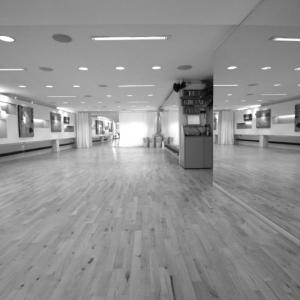 Unsere Räume: Der erste Schritt in unseren Tanzsaal.