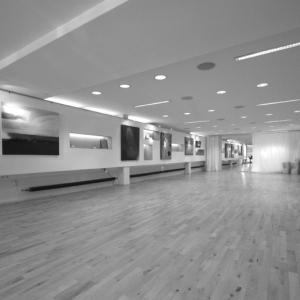 Unsere Räume: Tanzsaal vom Eingang aus betrachtet.