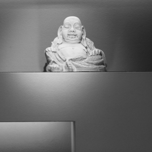 Unsere Räume: Unser Budda wacht über Allem.